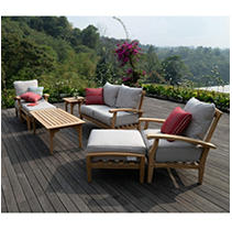 Teak Sofa Set - 7 pc. - Beige