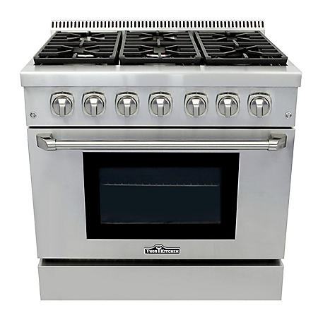 "Thor Kitchen Premium Series 36"" Freestanding Gas Range With Convection"