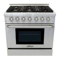 "Thor Kitchen Premium Series 36"" Freestanding Gas Range With Convection"