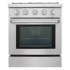 "Thor Kitchen Premium Series 30"" Freestanding Dual Fuel Range With Convection"