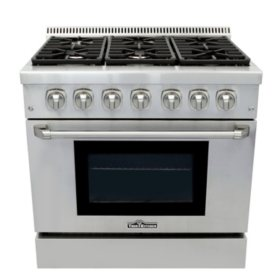 "Thor Kitchen Premium Series 36"" Freestanding Dual Fuel Range With Convection"