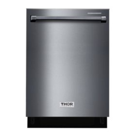 "Thor Kitchen 24"" Built-in Dishwasher in Black Stainless Steel"