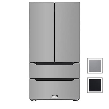 "Thor Kitchen 22.5 cu. ft. 36"" Counter Depth French Door Refrigerator"