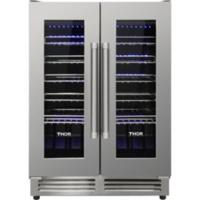 "Thor Kitchen 24"" 42-Bottle Dual Zone Wine Cooler"