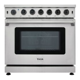 "Thor Kitchen 36"" Freestanding Gas Range with Convection"