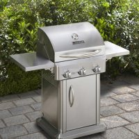 Chefs Grill 24-inch 3-Burner Stainless Steel Patio Gas Grill