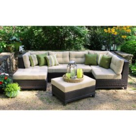 Hillborough 4-Piece Sectional, Multiple Color Choices