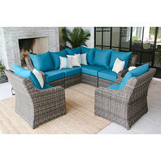 Cedar Grove 7-Piece Sectional Seating Group with Sunbrella Fabric, Assorted Colors
