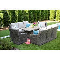 Cedar Grove 9pc Cocktail Seating with Sunbrella Fabric, Various Colors
