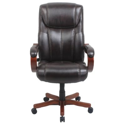 Beau Barcalounger Executive Wood Big U0026 Tall Chair, Brown (Supports Up To 350  Lbs.)   Samu0027s Club