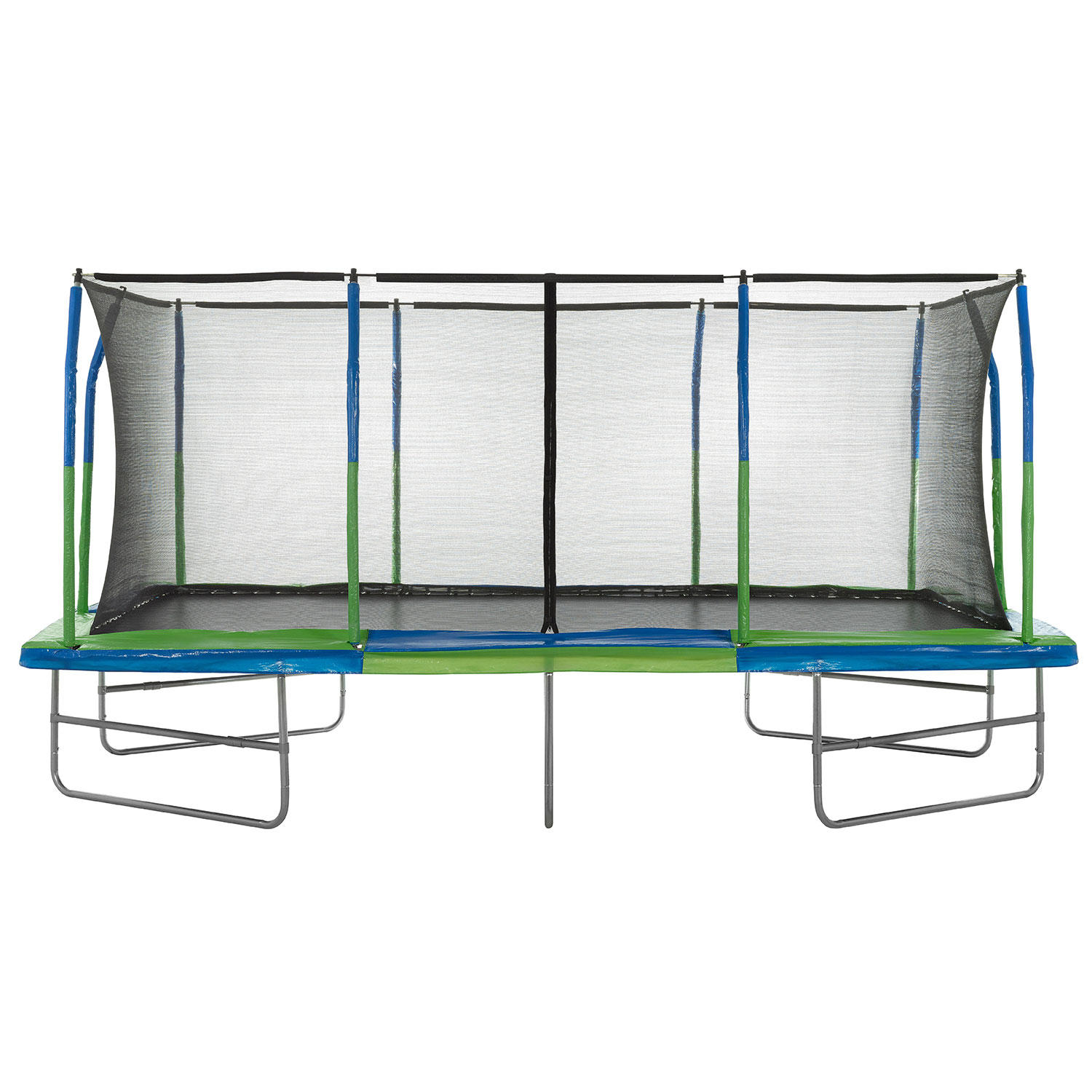 Upper Bounce Mega Trampoline with Fiber Flex Enclosure System (10' X 17')