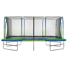 Upper Bounce Mega Trampoline with Fiber Flex Enclosure System, 10' X 17'