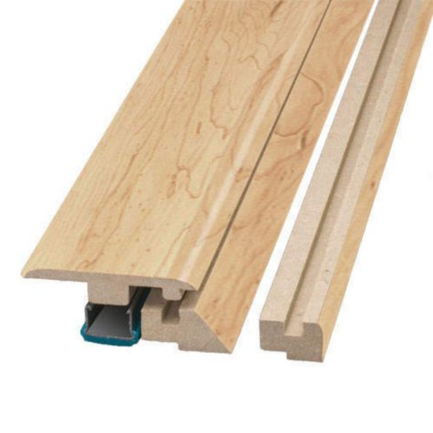 "Simple Solutions™ Four-in-One Molding - Monterey Maple - 78.75"" Long"