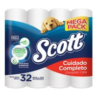 Scott Complete Care 3-Ply Bath Tissue, Mega Pack (275 sheets/roll, 32 rolls)