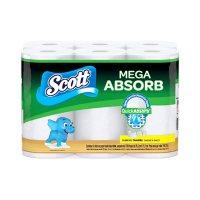 Scott Mega Absorb Paper Towels, Choose-a-Sheet, White (200 sheets/roll, 6 ct.)