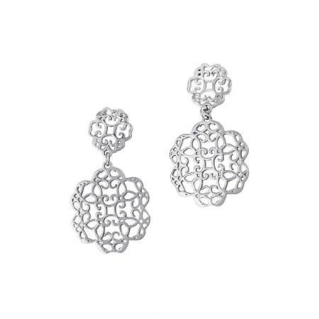 925 Sterling Silver Cuzan Flower Earrings