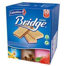 Colombina Bridge Wafer Multipack (50 ct.)