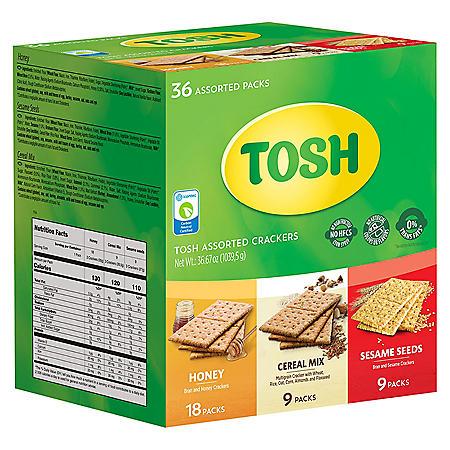 Tosh Cracker Variety Pack (36 pk.)