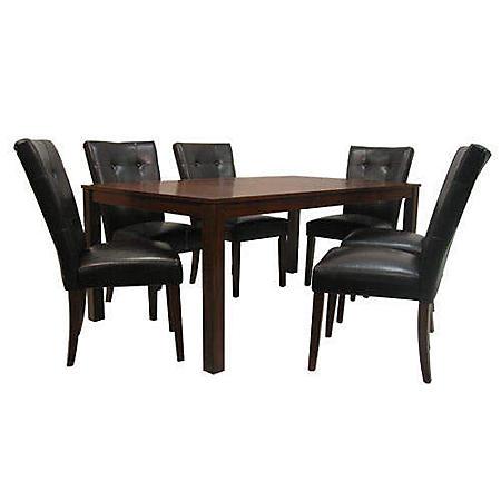 Belv Tufted Bi-Cast Leather Dining Set - 5 pc.