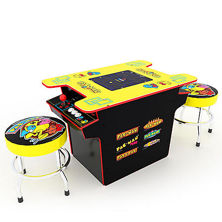 Pac-Man Head to Head Arcade Table with Two Pac-Man Gaming Stools