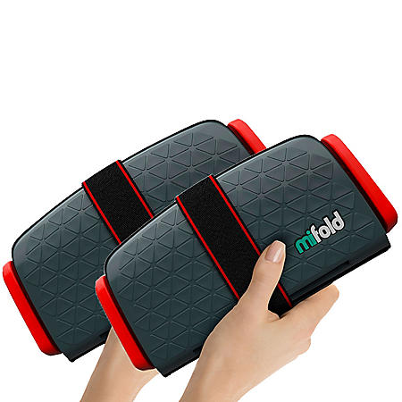 Mifold the Grab and Go Booster Seat, Gray (2 Boosters)