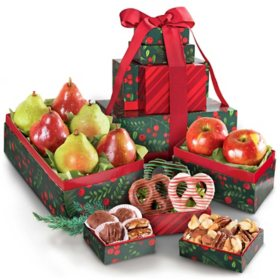 Classic Holiday Fruit and Gourmet Gift Tower