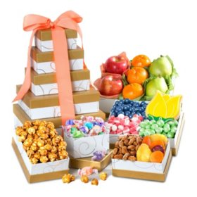 Sams club gift baskets towers spring fresh fruit and gourmet sweets gift tower negle Image collections