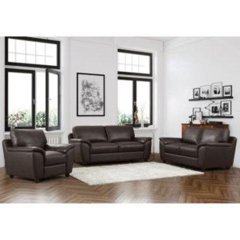 Mavin Top-Grain Leather Sofa Set