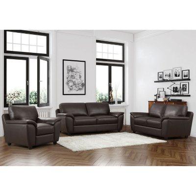Charmant Mavin Top Grain Leather Sofa, Loveseat And Armchair Set
