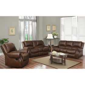 Harvest Reclining Sofa, Loveseat and Chair Set - Sam\'s Club