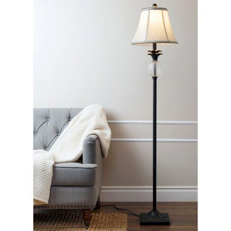 Reed Pineapple Floor Lamp