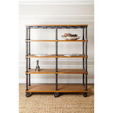 Atwood Industrial Entertainment Bookcase