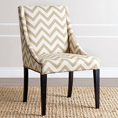 Jewell Gold Chevron Swoop Dining Chair