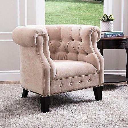 Caileen Fabric Nailhead Trim Armchair