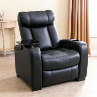Deals on Abbyson Living Larson Leather Reclining Home Theater Seating