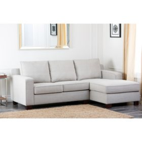 Beverly Gray Fabric Sectional
