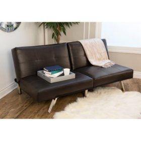 Stanford Convertible Split-Back Sofa Futon, Assorted Colors