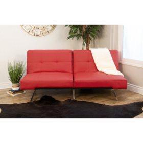 Stanford Convertible Split-Back Sofa Futon, Assorted Colors