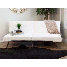 Stanford Convertible Split-Back Sofa Futon (Assorted Colors)