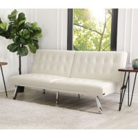 Abbyson Living Kenzie Leather Foldable Futon Sofa Bed Deals