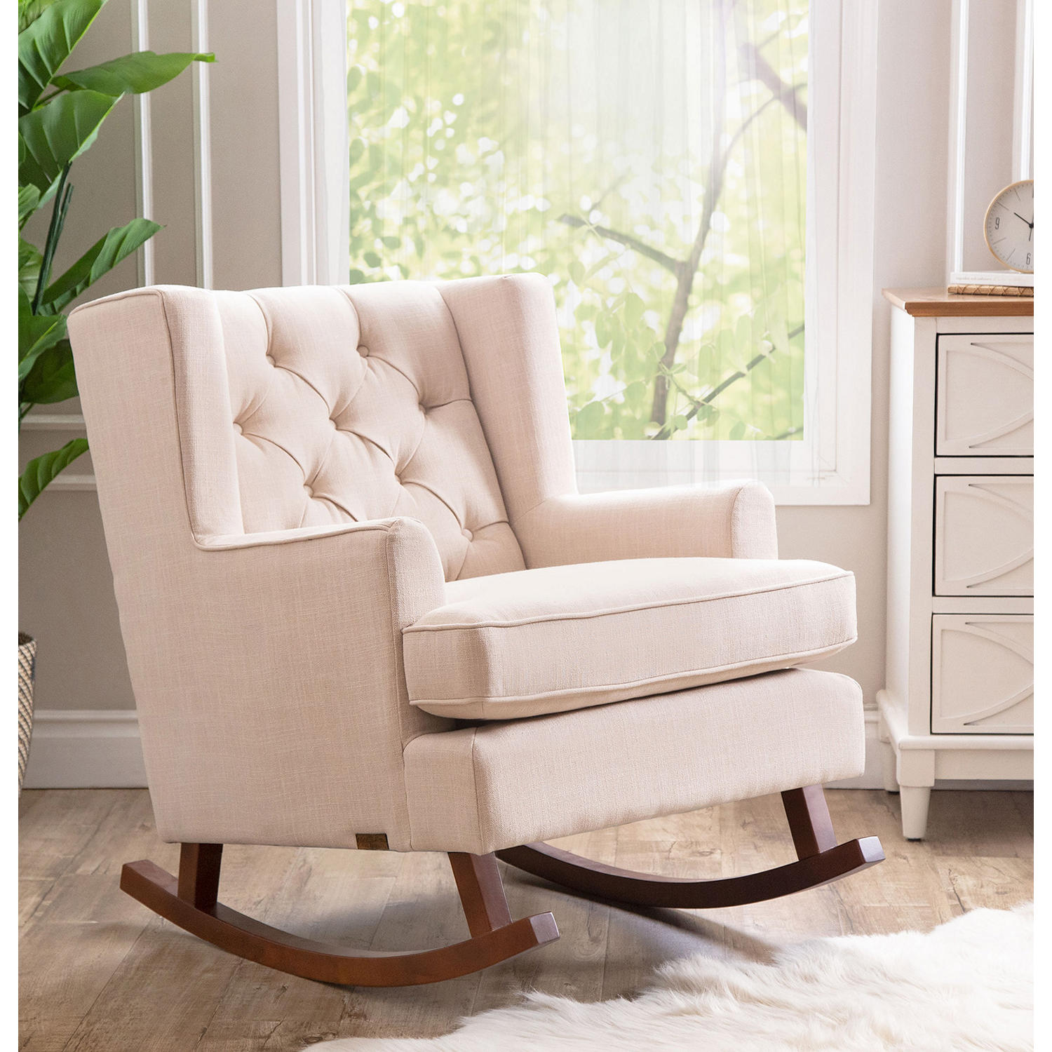 Abbyson Living Elena Fabric Rocker