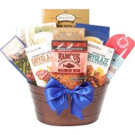 Copper Metal BBQ Gift Basket