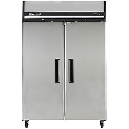 Maxx Cold X-Series Double-Door Commercial Reach-In Upright Freezer in Stainless Steel (49 cu. ft.)