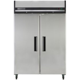 Maxx Cold X-Series Double Door Commercial Reach-In Upright Refrigerator in Stainless Steel (49 cu. ft.)