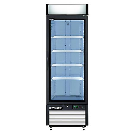 Maxx Cold X-Series Single Door Upright Merchandiser Freezer (23 cu. ft.)