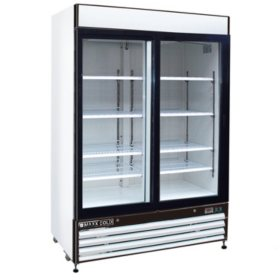 Maxx Cold X-Series Double Door Merchandiser Refrigerator in White (48 cu. ft.)