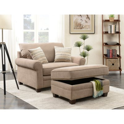 living room chairs sam\u0027s clubdouglas chair and storage ottoman