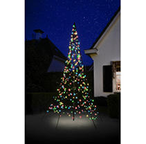 10FT Fairybell Outdoor Christmas Tree with 360 Multi-Color LED Lights