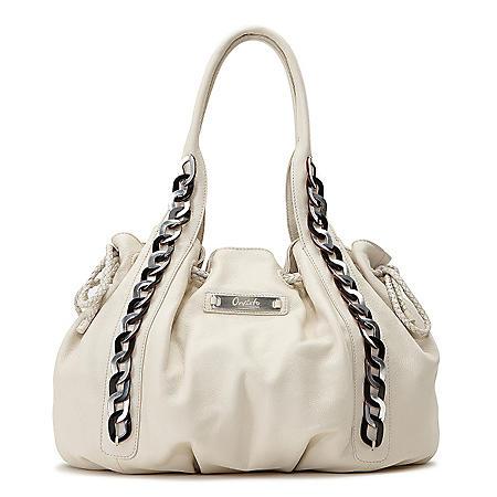 0c71c3124b7498 Orvieto by Estel Park Leather Bohemian Handbag - Ivory - Sam's Club