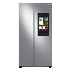 Samsung 27.3 cu. ft. Smart Side-by-Side Refrigerator with Family Hub